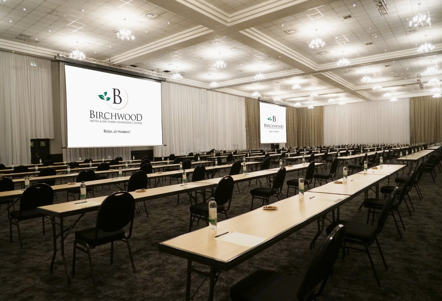 Large Conference Venue with Social Distancing Seating